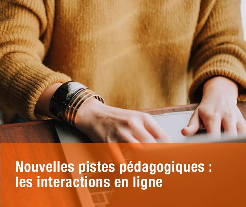 Nouvelles pistes pédagogiques :  les interactions en ligne