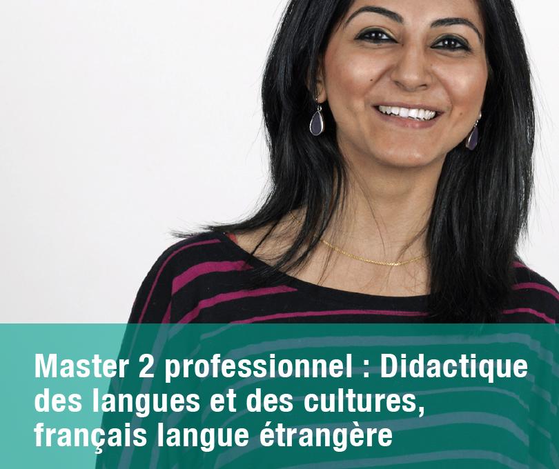 Master 2 professionnel : Didactique des langues et des cultures, français langue étrangère
