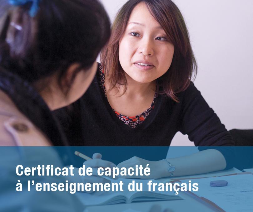 Certificat de capacité à l'enseignement du français