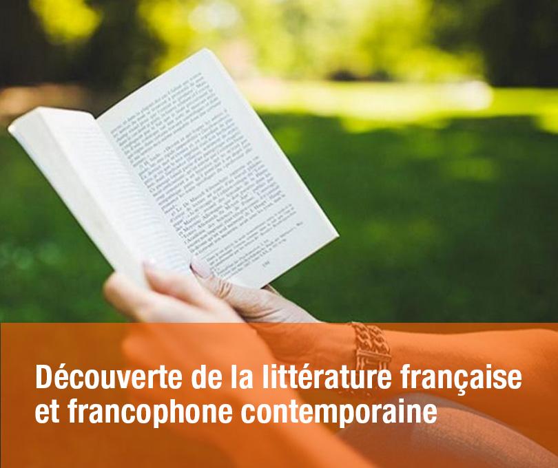 Découverte de la littérature française et francophone contemporaine