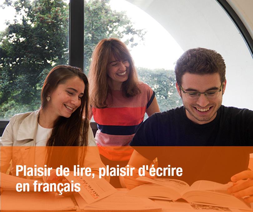Plaisir de lire, plaisir d'écrire en français