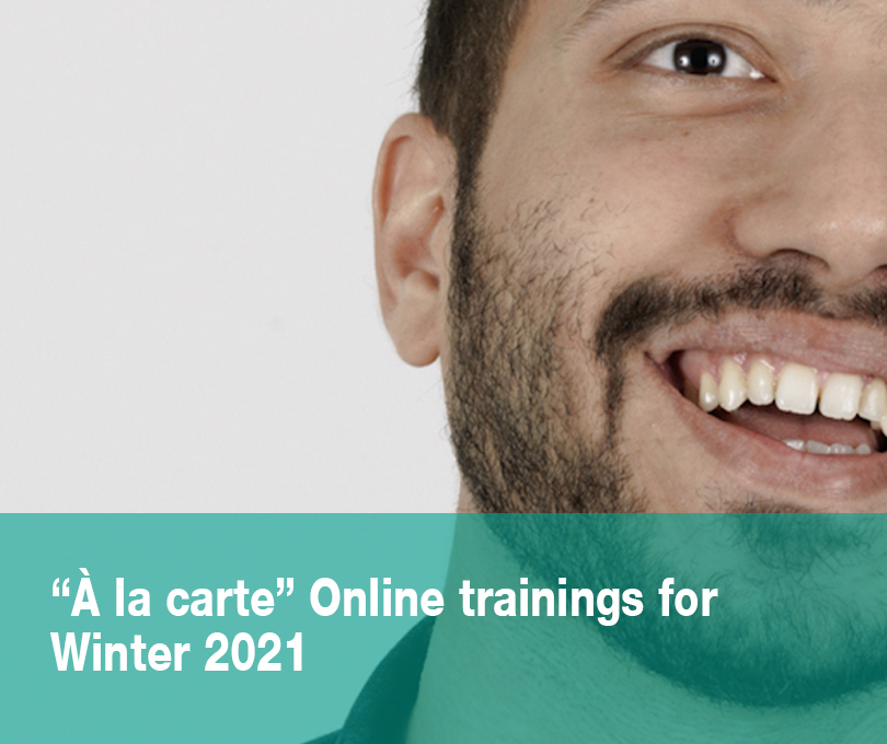 """""""À la carte"""" Online trainings for teachers – WINTER 2021"""