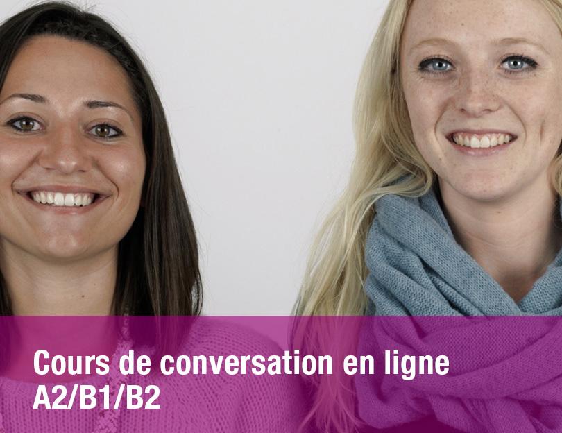 Cours de conversation en ligne A2/B1/B2