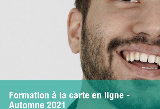 Formation à la carte en ligne Automne 2021